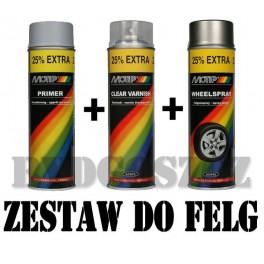 Zestaw do malowania felg - 6 kolorów